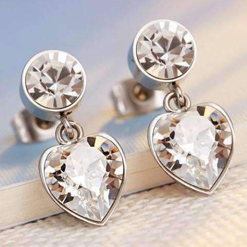 Stud Earrings with Swarovski Crystals