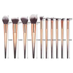 10pcs Makeup Brush Set