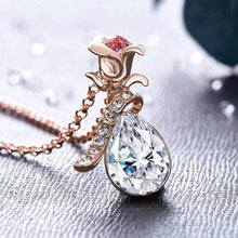 Load image into Gallery viewer, Rose Design Pendant with Swarovski® Crystals