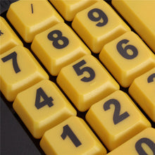 Load image into Gallery viewer, Wired USB Keyboard - High Contrast Black Yellow Keys