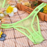 GZDL Sexy Women Transparent Lingeries Sheer Mesh Panties Ladies G-String Underpants Briefs Underwear Thongs V-string NY210