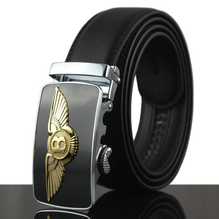 New Men Belt For Jeans Luxury Belt Real Cowskin Leather Automatic Buckle Belt Strap Mens Designer Belts military belt Q209
