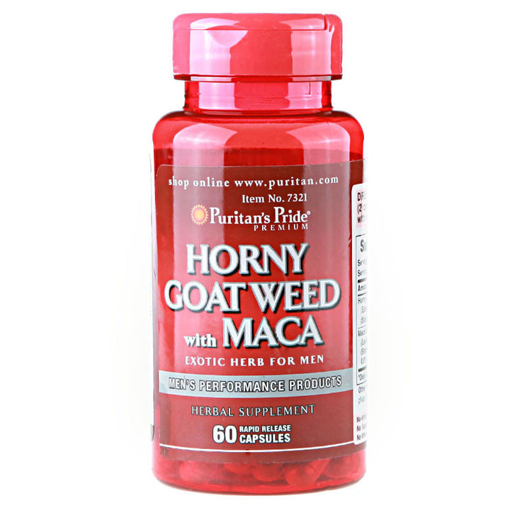USA Horny Goat Weed with Maca 500 mg / 75 mg-60 Capsules free shipping