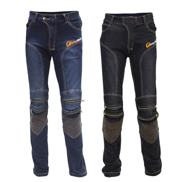 HOT SELLING! Locomotive Motocross Cycling Jeans With Knee Protector Gear Rider Motorcycle Moto Racing Pants M-XXL