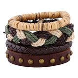 Retro Diy Bracelets High Quality Unique Design Leather Bracelets For Men and women christmas gifts