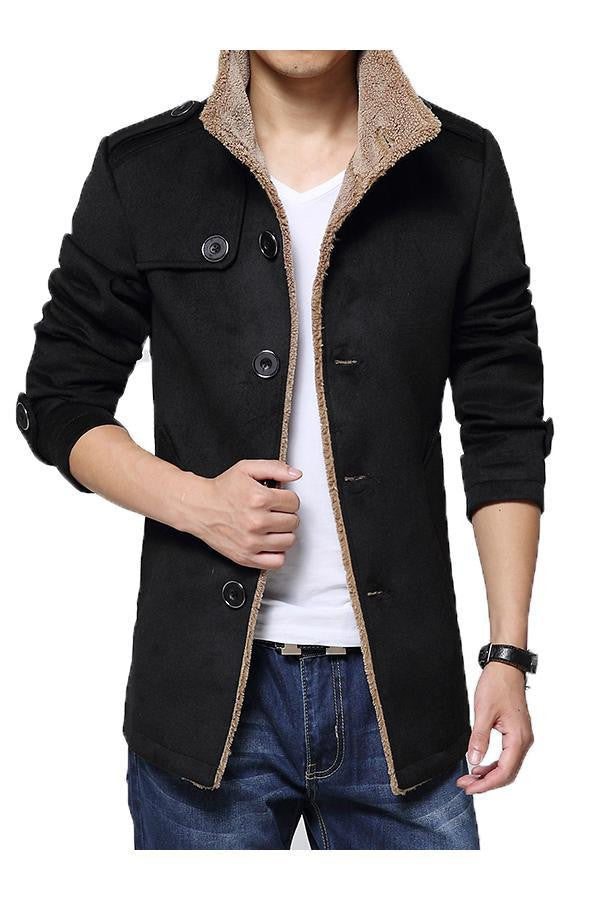 New Arrival Trench Coat Men Casual Slim Fit Jacket Autumn Winter Fur Collar Windbreaker Jackets and Coats Men Plus Size 4XL
