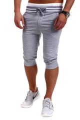 Fashion Brand Casual Calf-Length Male Shorts Slim Leisure Cotton Men Shorts M-XXXL Solid leisure Men Shorts Sportswear 6 Colors
