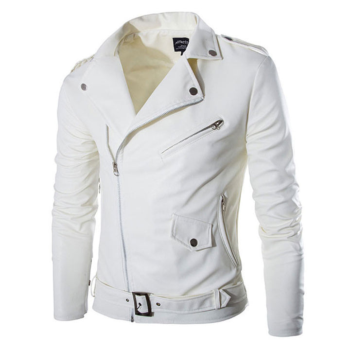 New White Leather Jacket Men Autumn Brand Jaqueta Couro Masculino Bomber Leather Coat Fashion Trend Motorcycle Jacket M-XXL