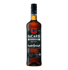 BACARDI Carta Negra Superior Black Rum (1 x 750ml)