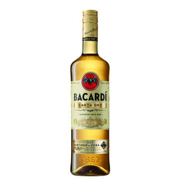 BACARDI Carto Oro Gold Rum (1 x 750ml)