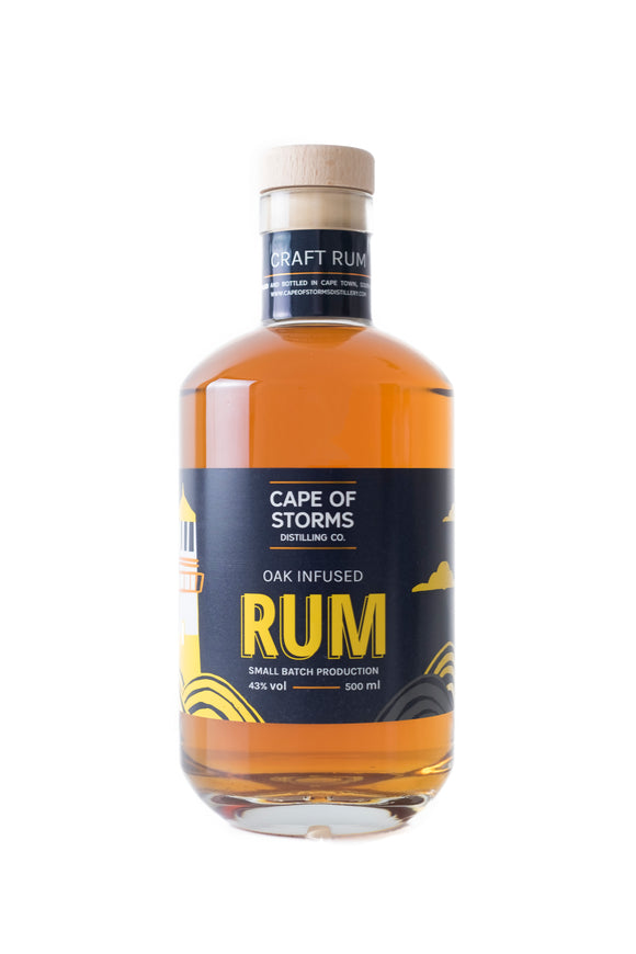 CAPE OF STORMS - Oak Infused Rum (1 x 500ml)