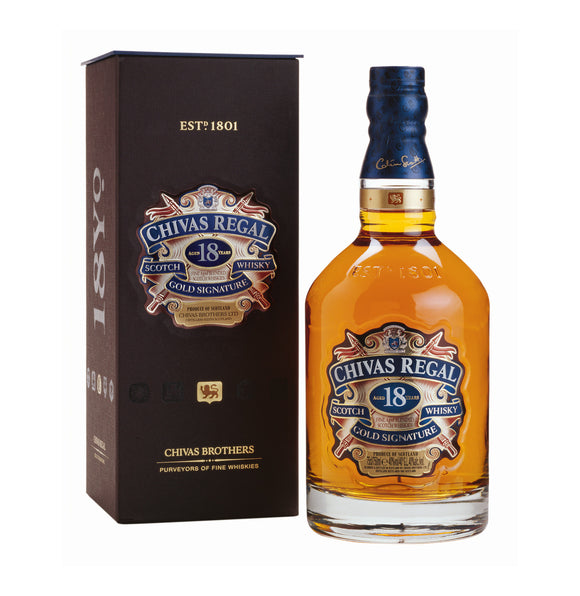 CHIVAS REGAL 18 YO Gold Signature Scotch Whisky (1 x 750ml)
