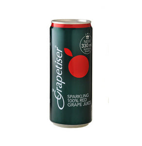 GRAPETISER Sparkling Fruit Juice Red Grape (24 x 330ml)