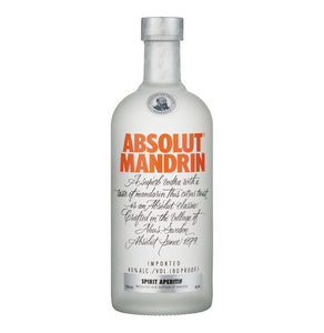 ABSOLUT Imported Mandrin Vodka (1 x 750ml)