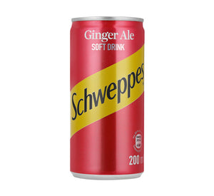 SCHWEPPES Soft Drink Can Ginger Ale (24 x 200ml)