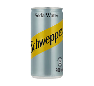 SCHWEPPES Soft Drink Can Soda Water (24 x 200ml)