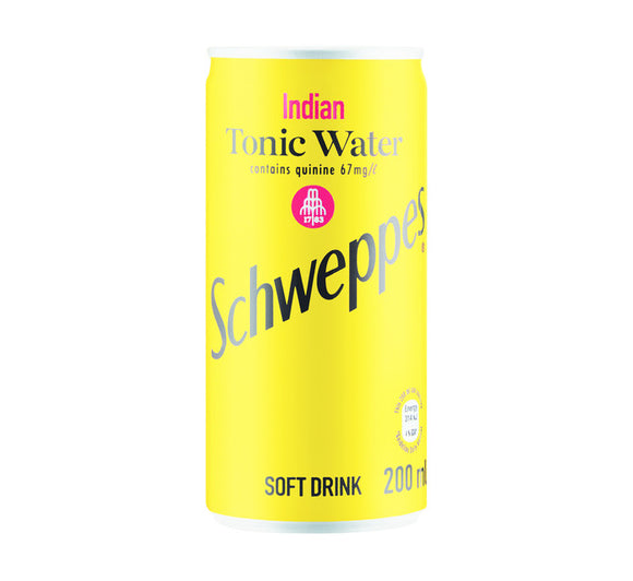 SCHWEPPES Soft Drink Can Tonic Water (24 x 200ml)