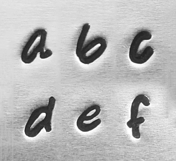 Impressart, Bridgette, Lowercase, Letter, 3mm,  Metal Stamps - Press Metals
