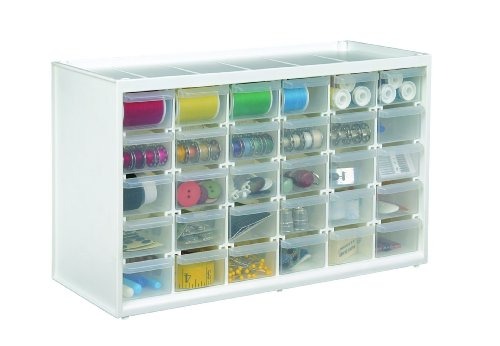 ArtBin Store-In-Drawer Cabinet, 30 Art and Craft Supply Storage Drawers, 6830PC
