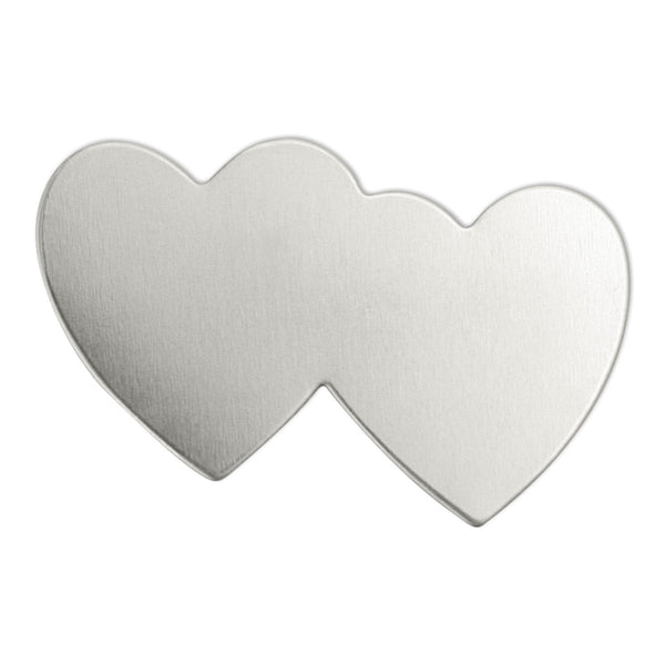 "Impressart Double Heart, 1 7/16""- Stamping Blank, 24 Pack - Press Metals"