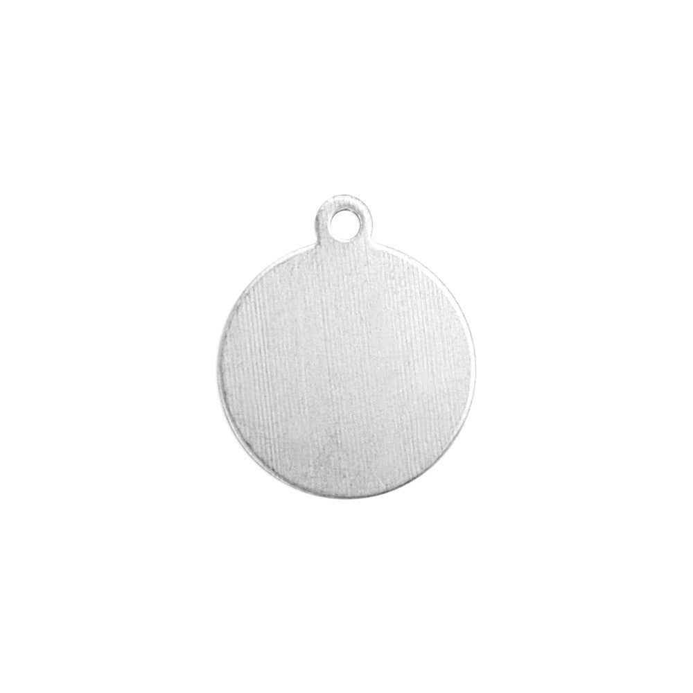 "Impressart, Circle Tag w/ Ring 5/8""- Stamping Blank, 24 Pack - Press Metals"