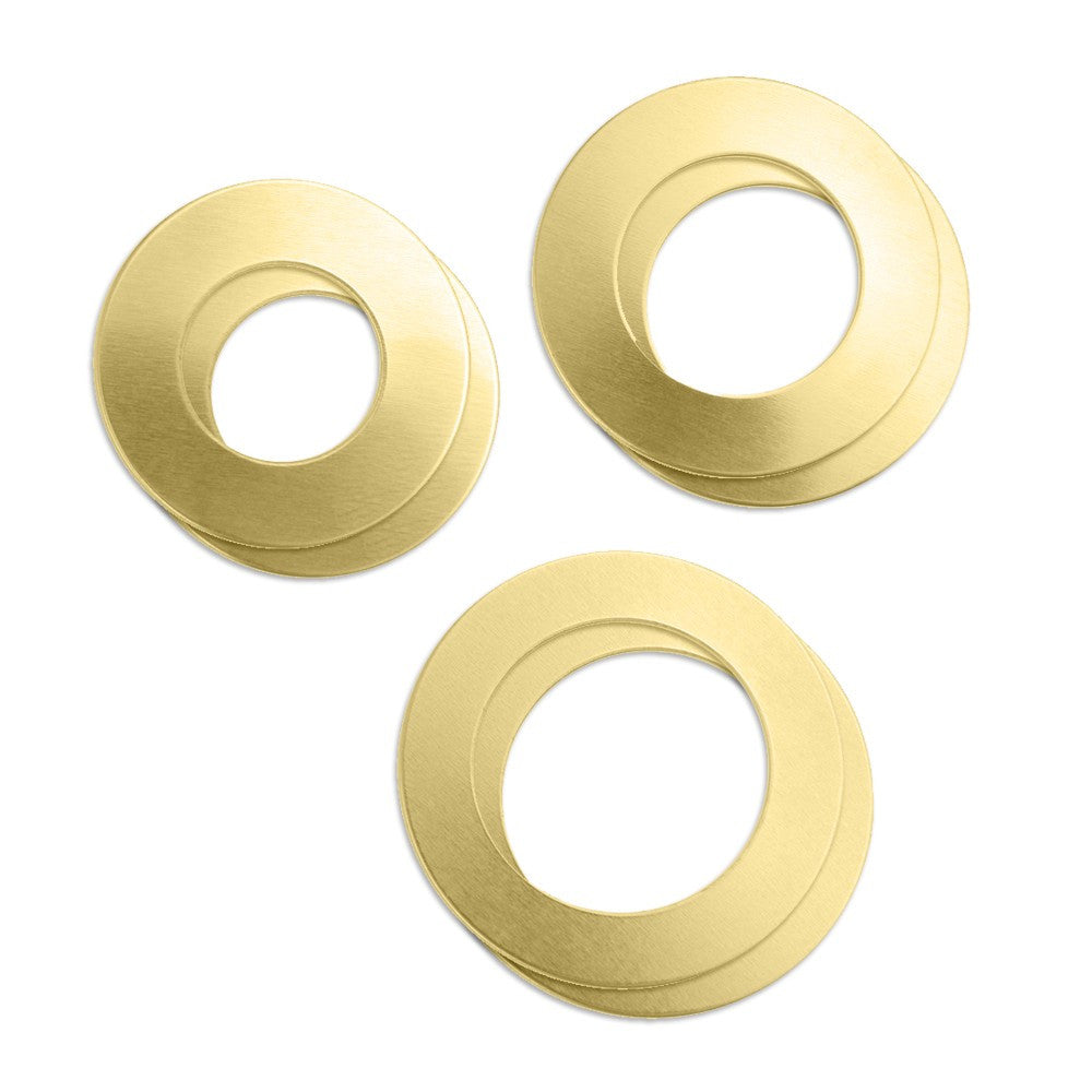 Impressart, Brass Washer Stamping Blank Variety 6 Pack - Press Metals