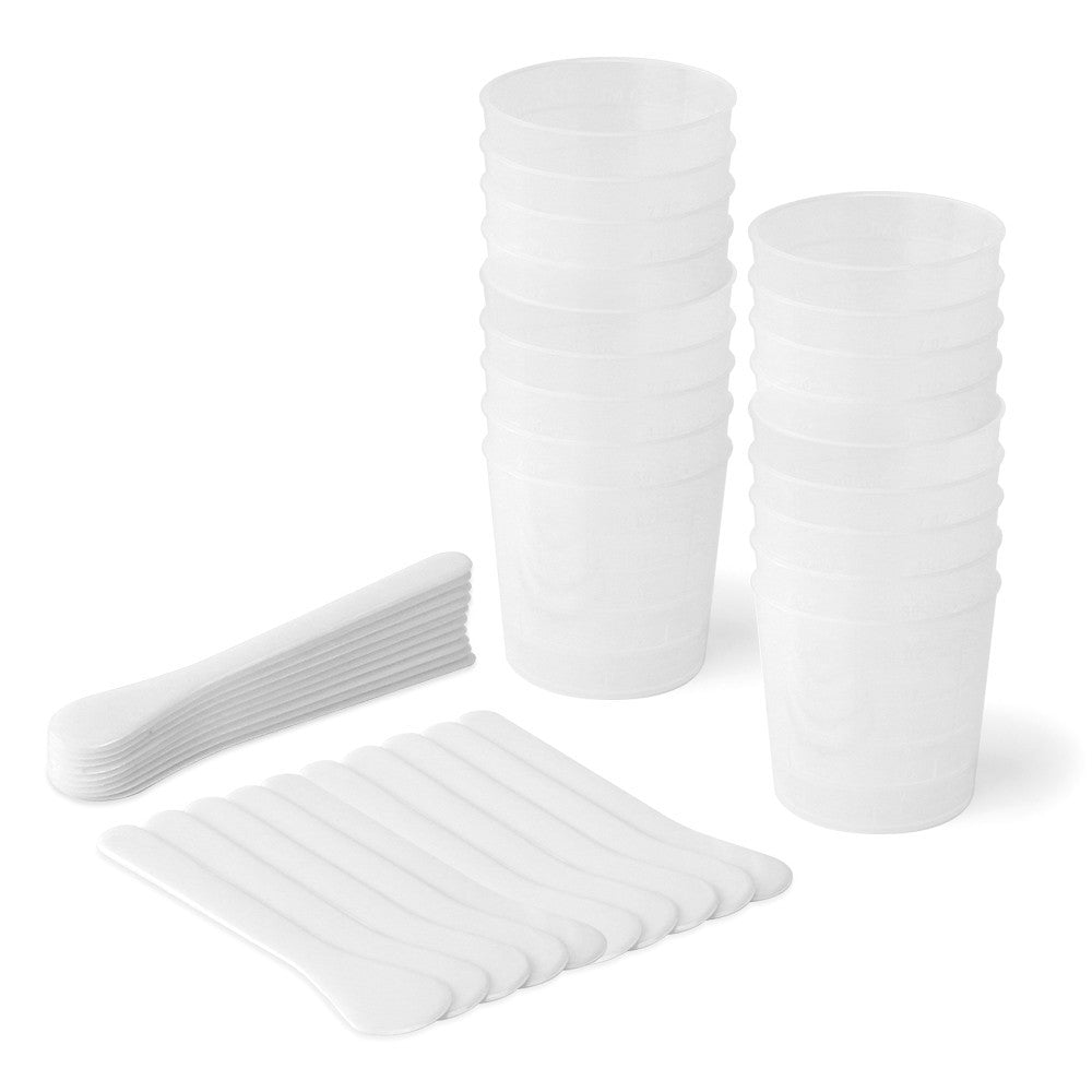 Ice Resin Mixing Cups & Sticks, 20 pcs each - Press Metals