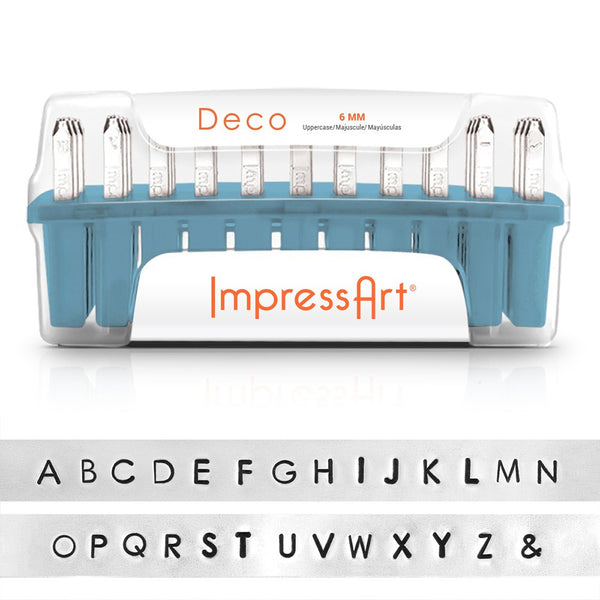 Impressart, Deco, Uppercase, Letter, 6mm, Metal Stamps