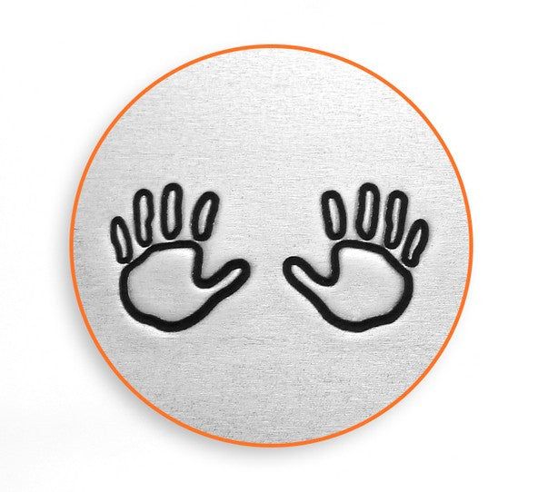 ImpressArt - Baby & Child, Hand Outline Pack, 6mm Metal Stamp - Press Metals