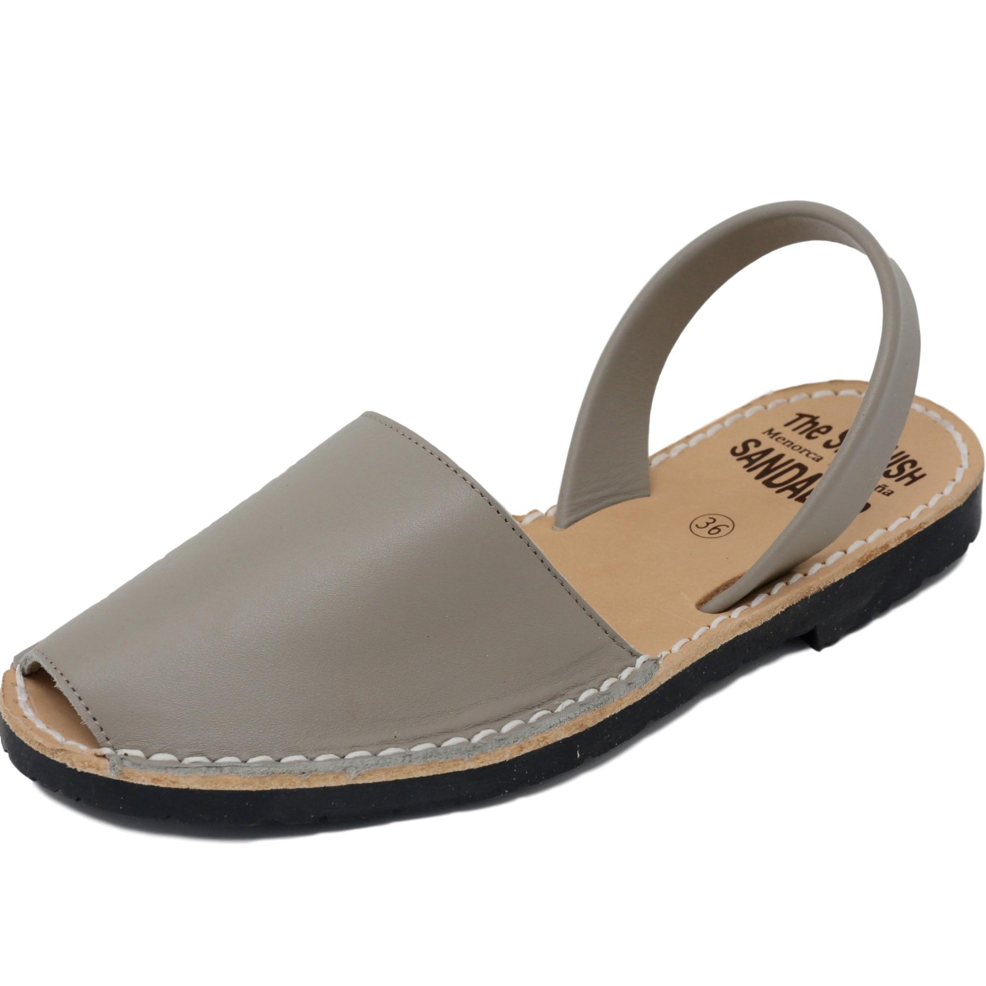 Classic taupe sandals - diagonal view