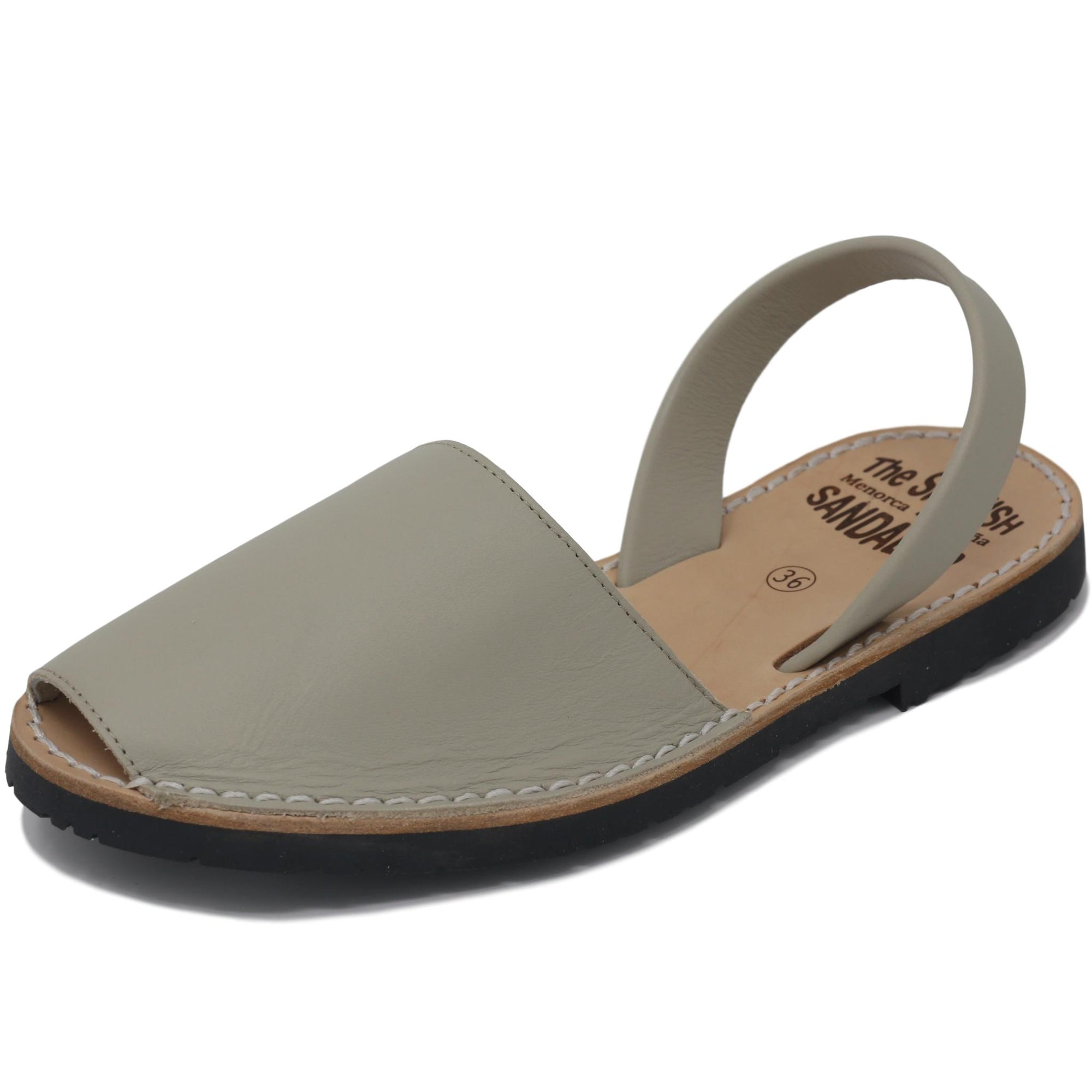 Classic beige sandals - diagonal view