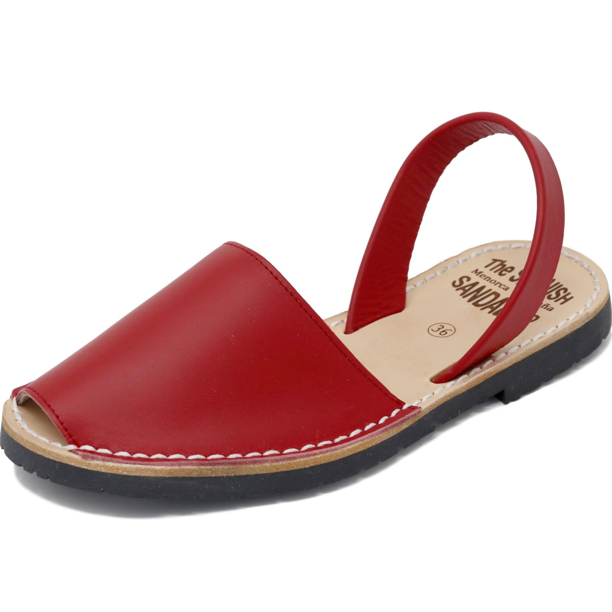 Classic red sandals  - diagonal view