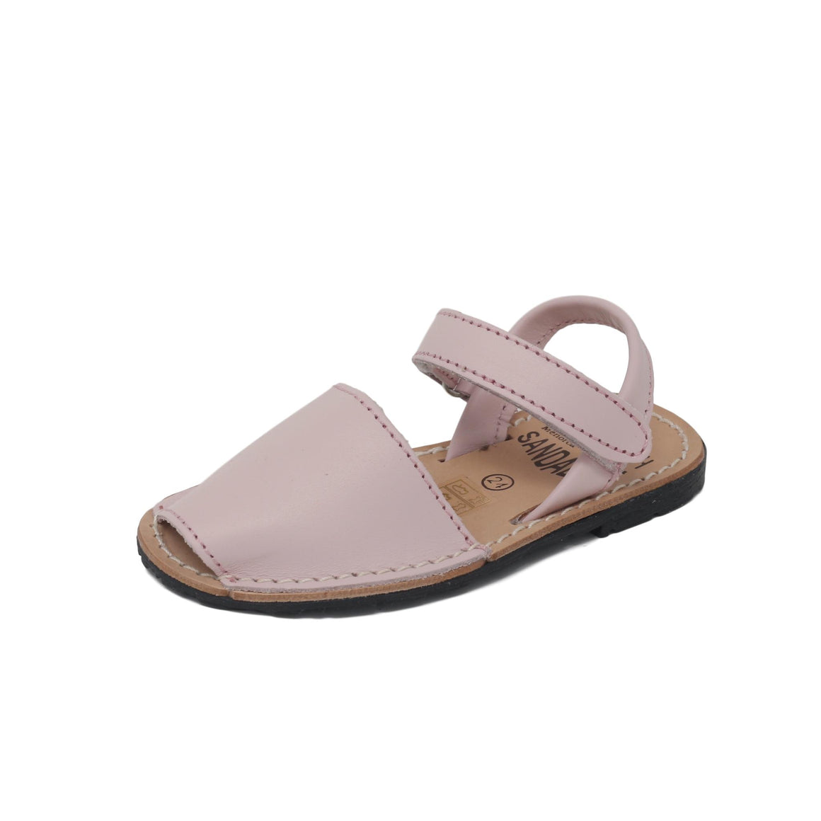 Baby blush pink with velcro strap