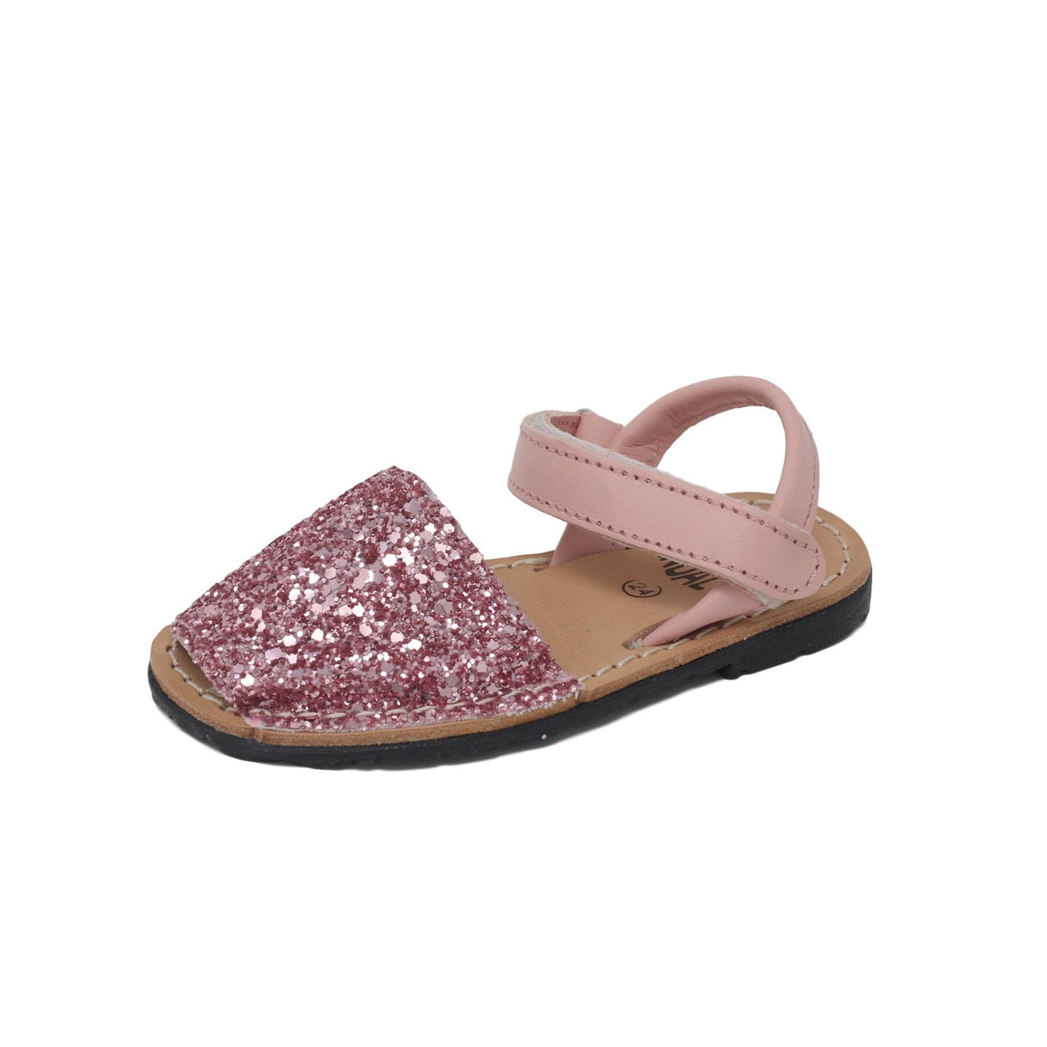 Baby glitter pink with velcro strap