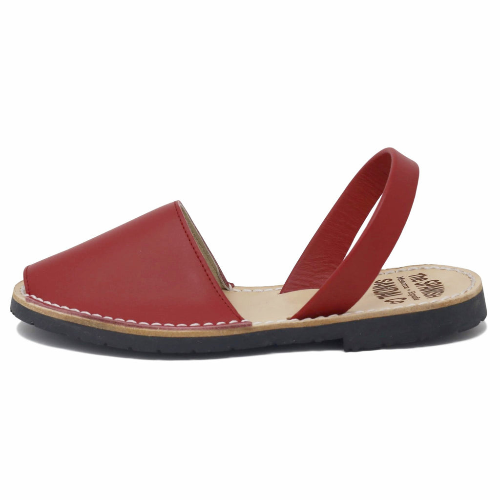 Classic red sandals  - side view