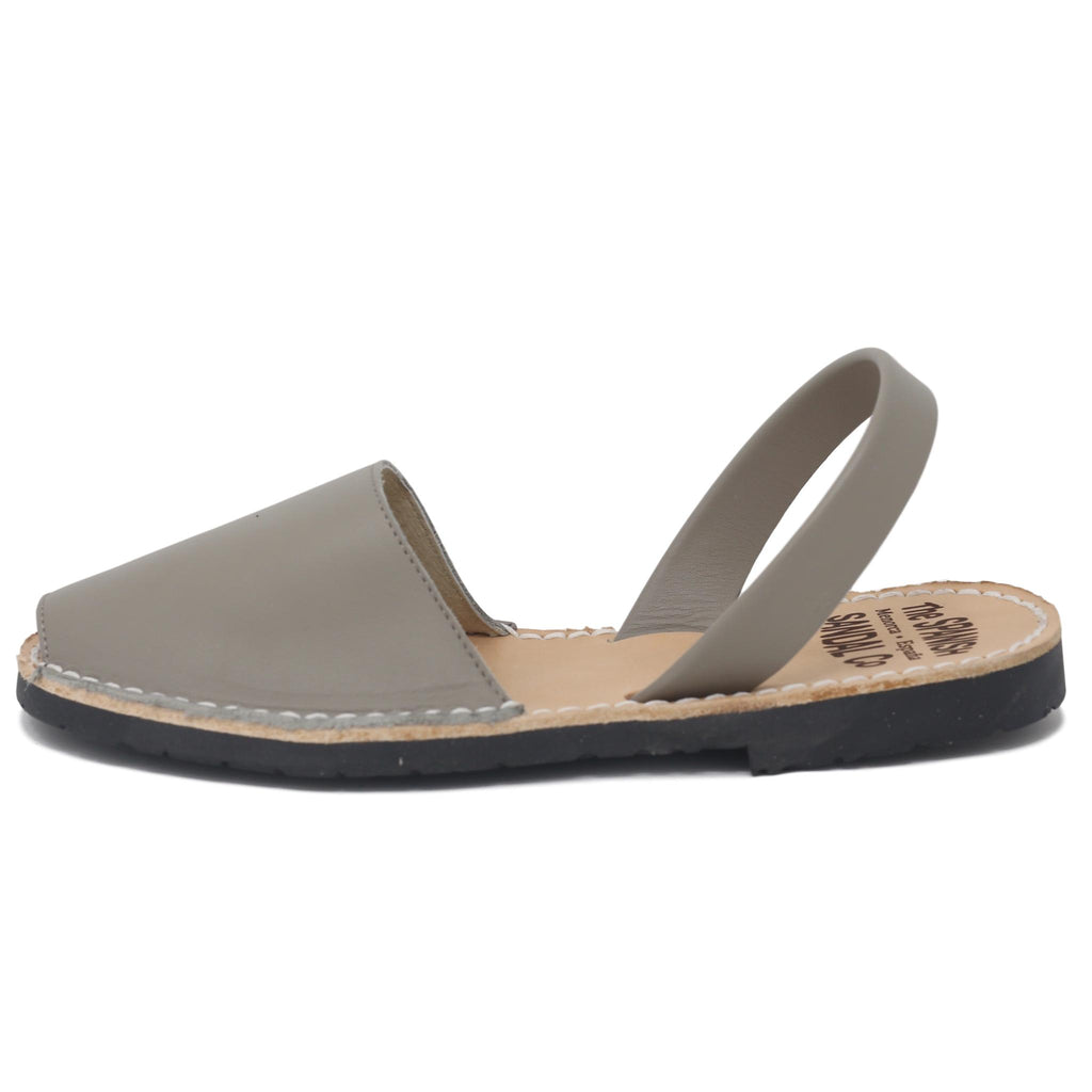 Classic taupe sandals - side view