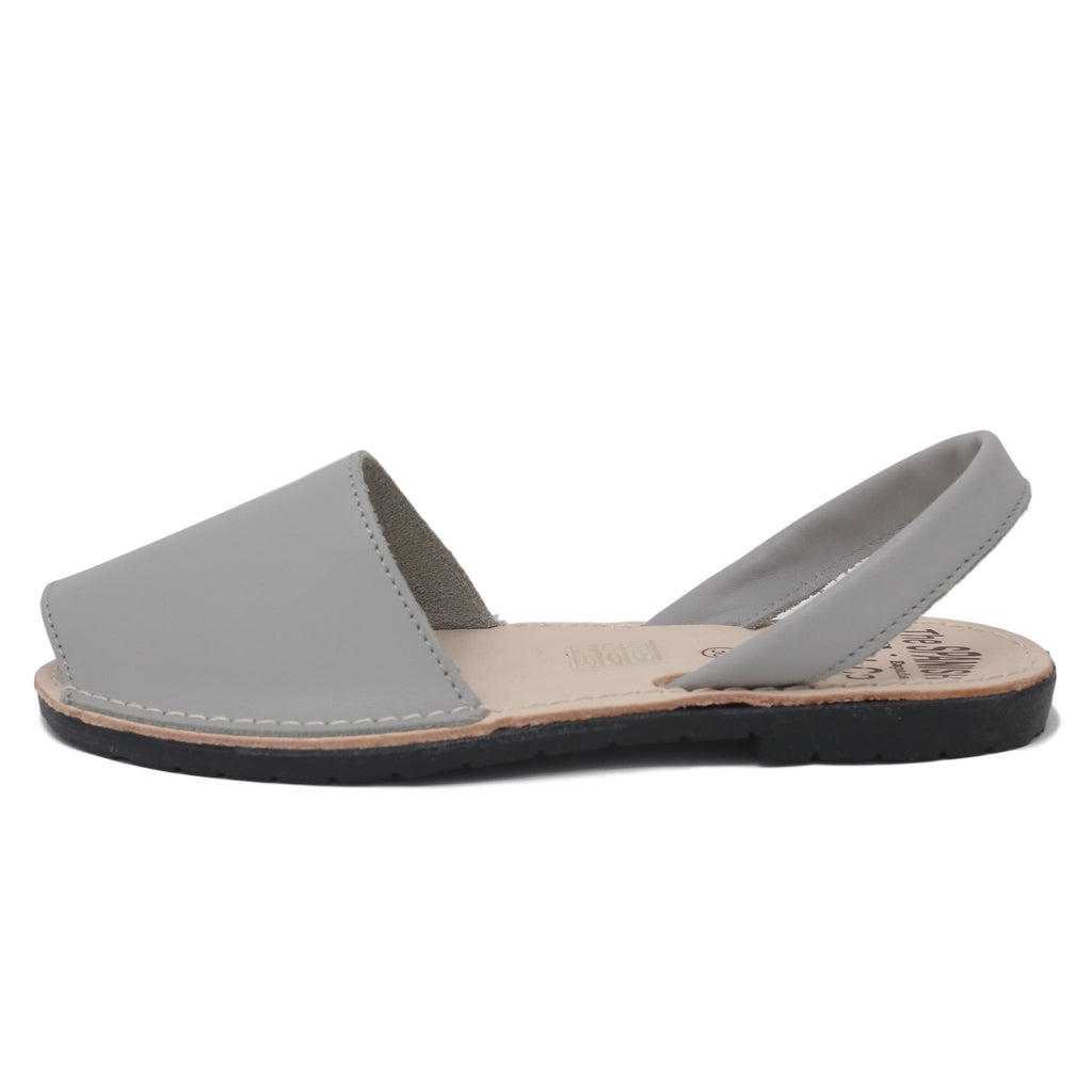 Classic soft grey sandals - side view