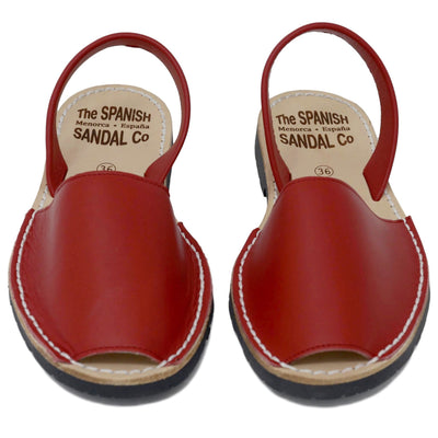 Classic red sandals  - front view