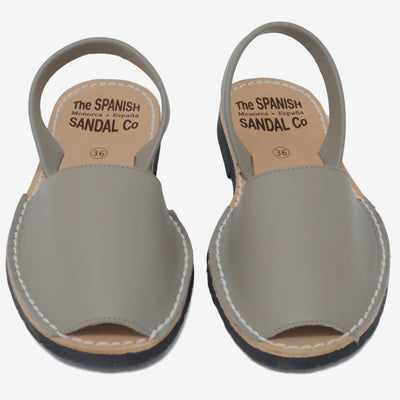 Classic taupe sandals - front view