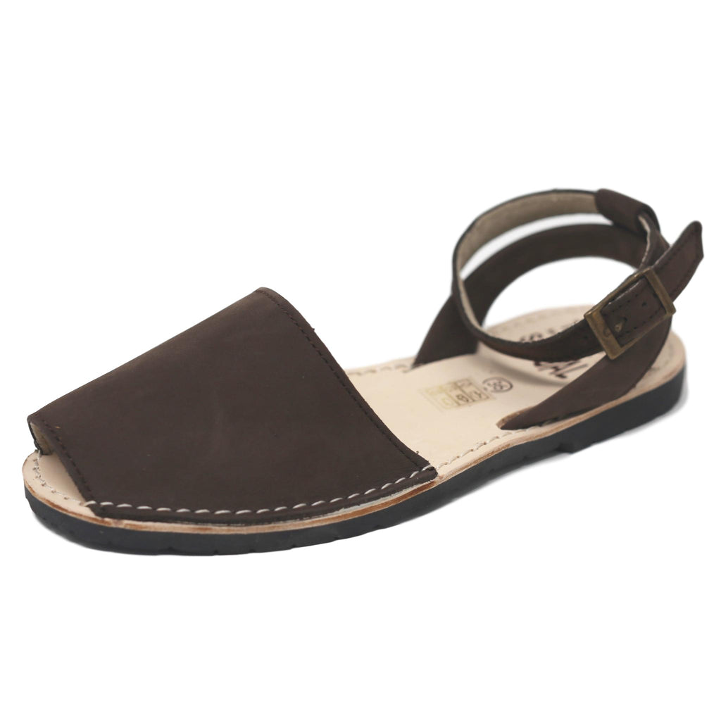 Brown nubuck with strap