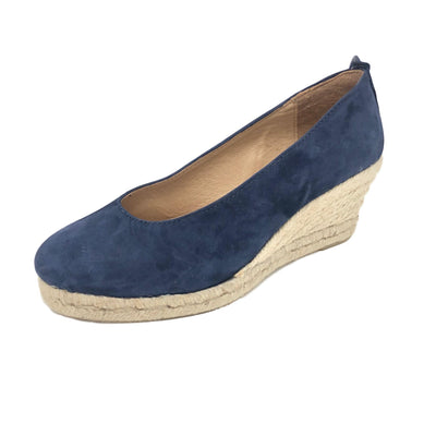 Navy Espadrille pumps