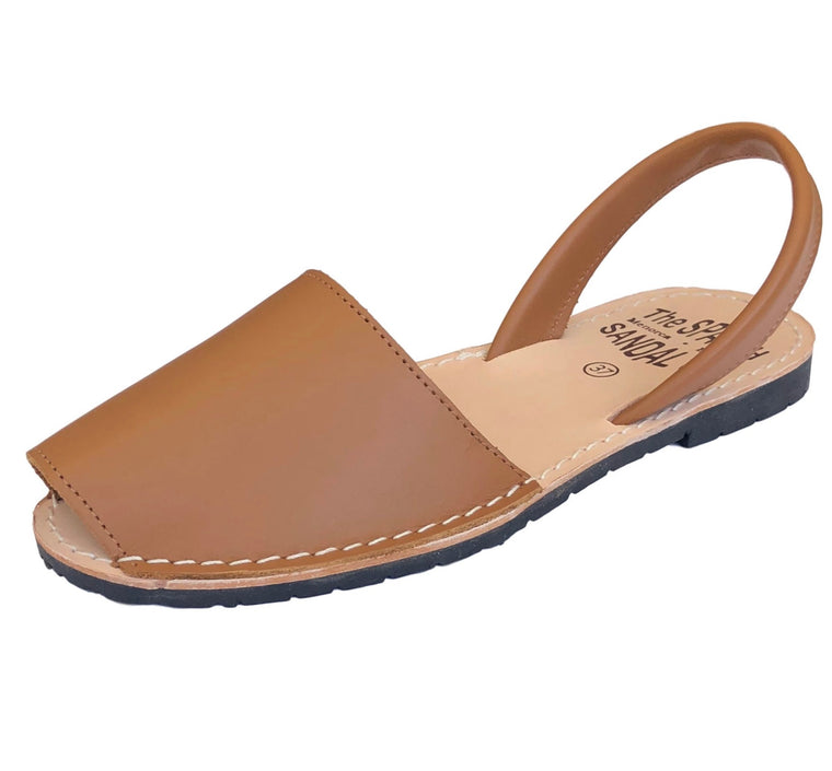 Camel classic Spanish sandals - diagonal view