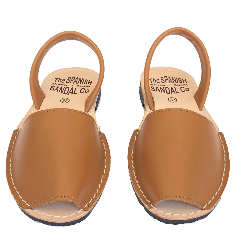 Camel classic Spanish sandals - front view
