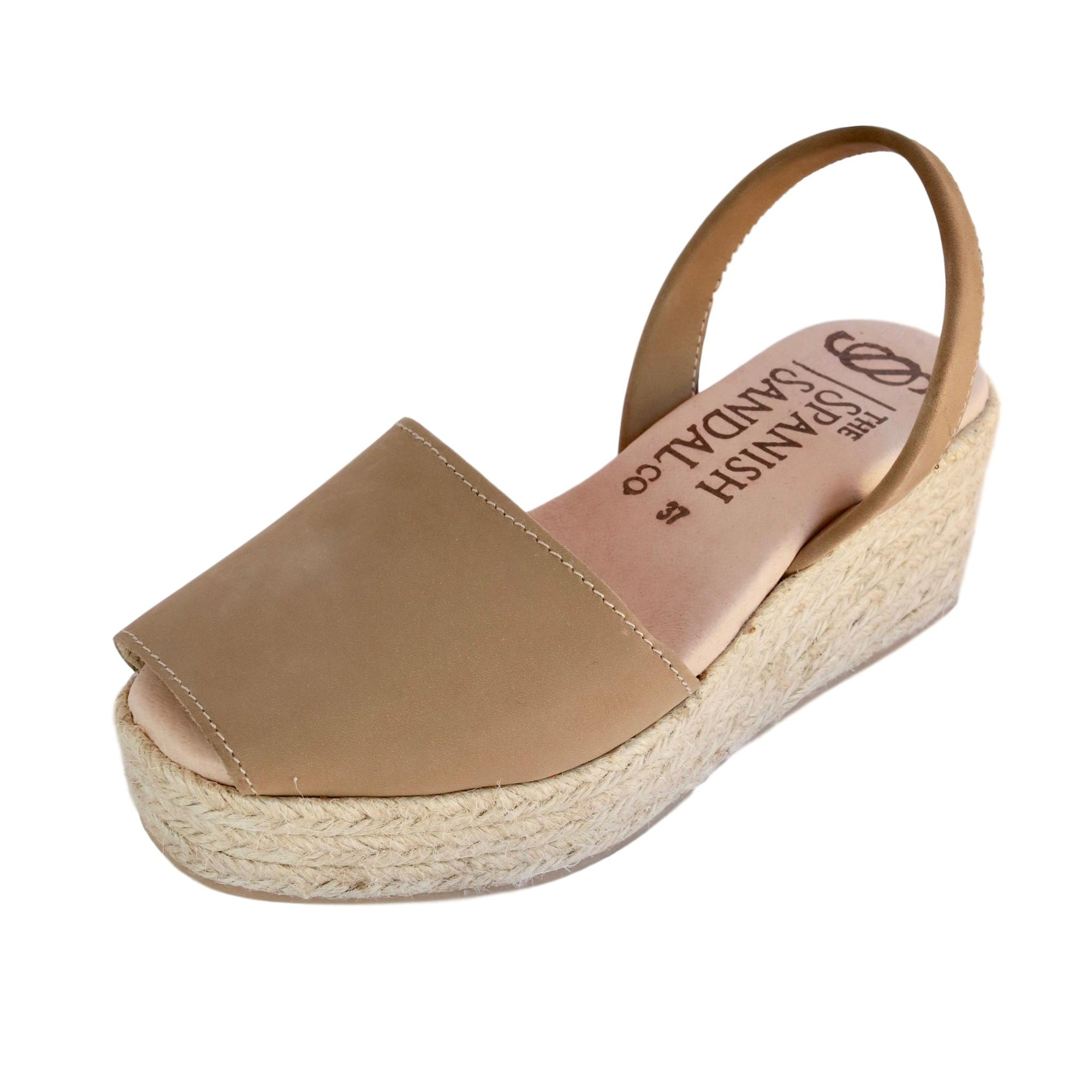 Toffee espadrille wedge sandals CLOUD