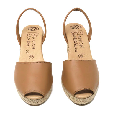 Saddle espadrille wedge sandals
