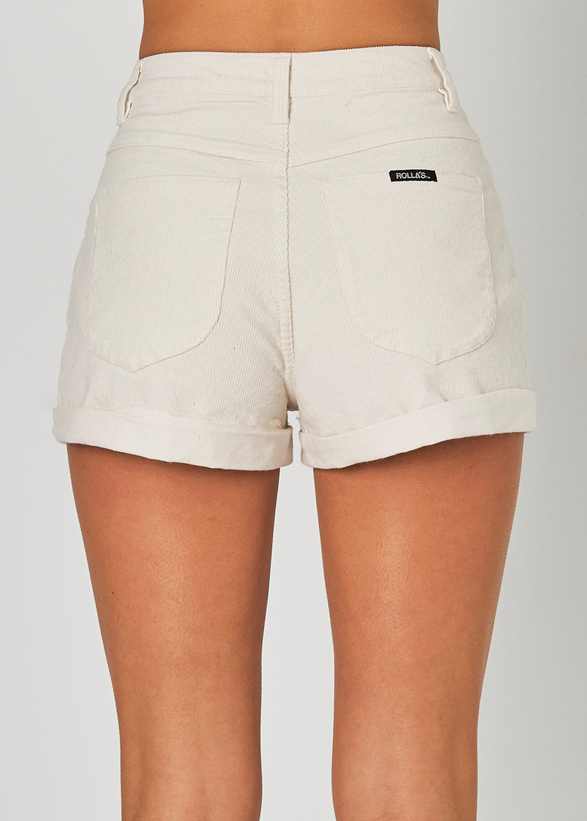 Off White Cord Dusters Shorts