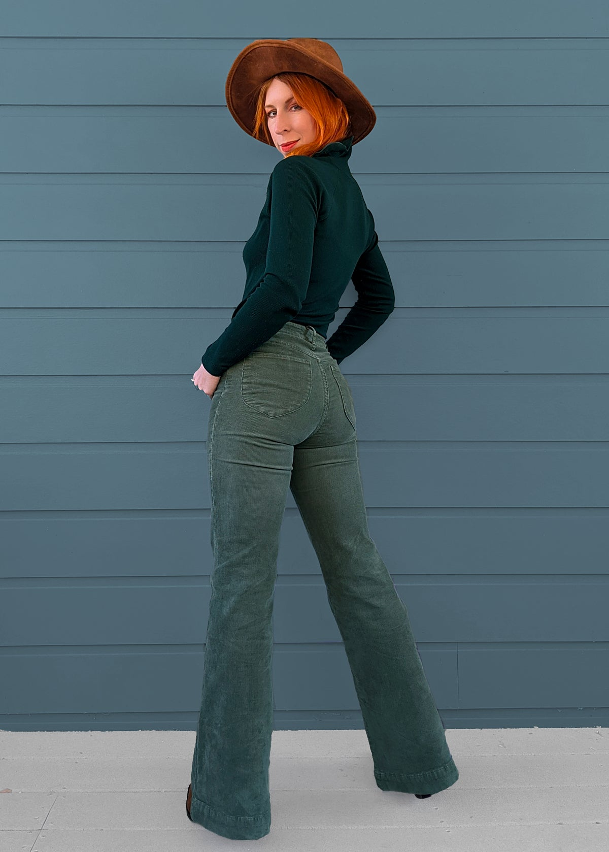 Sage Green Cord Eastcoast Flares