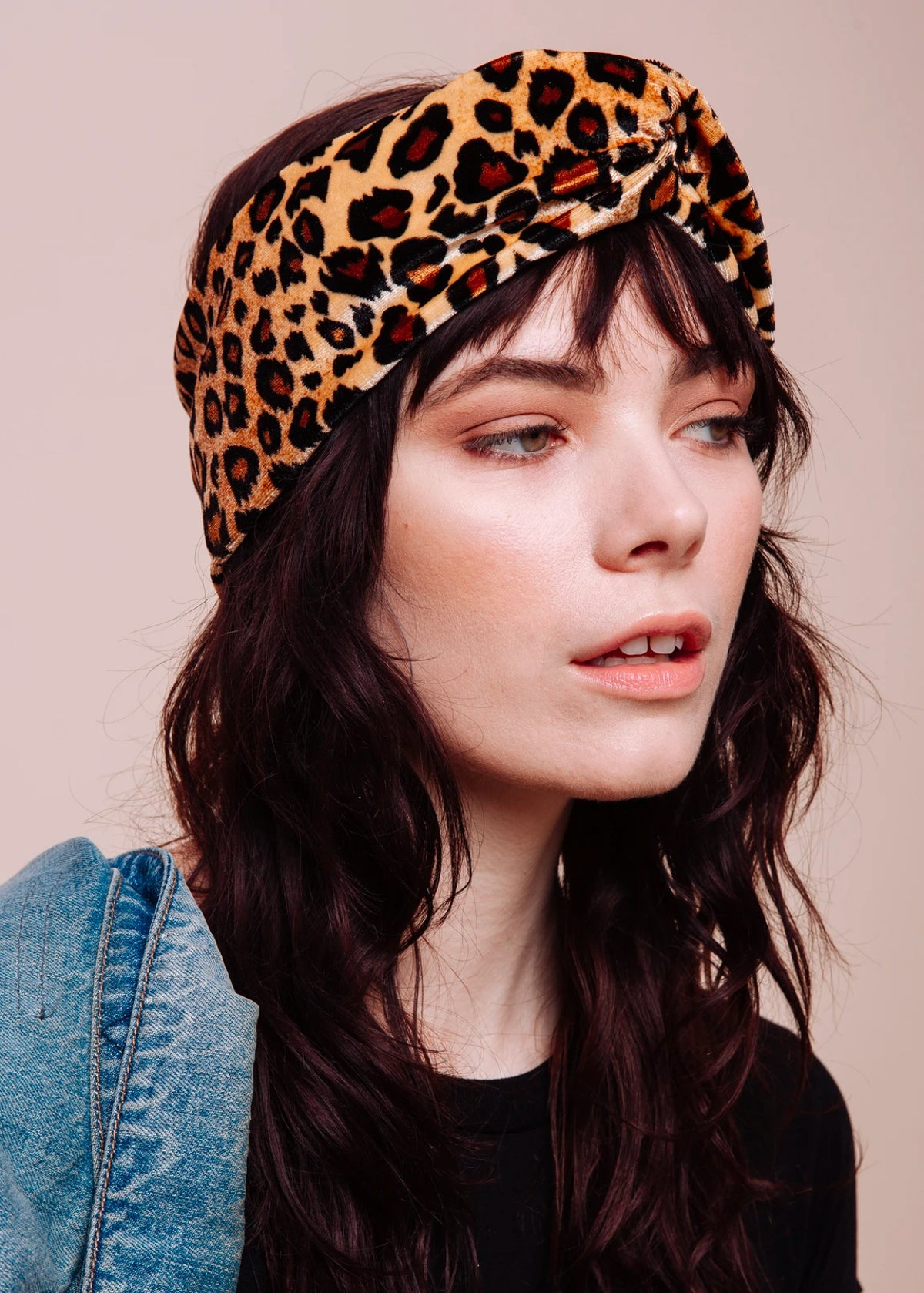 The Bebe Leopard Velvet Turban Headband
