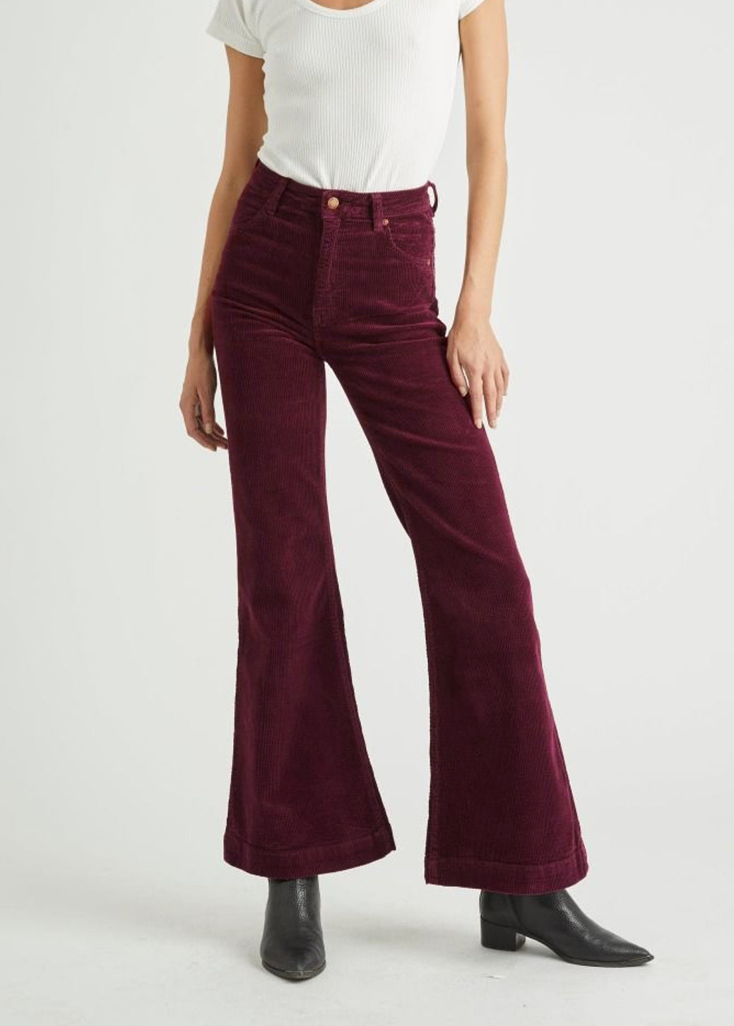 Berry Bordeaux Cord Eastcoast Flares