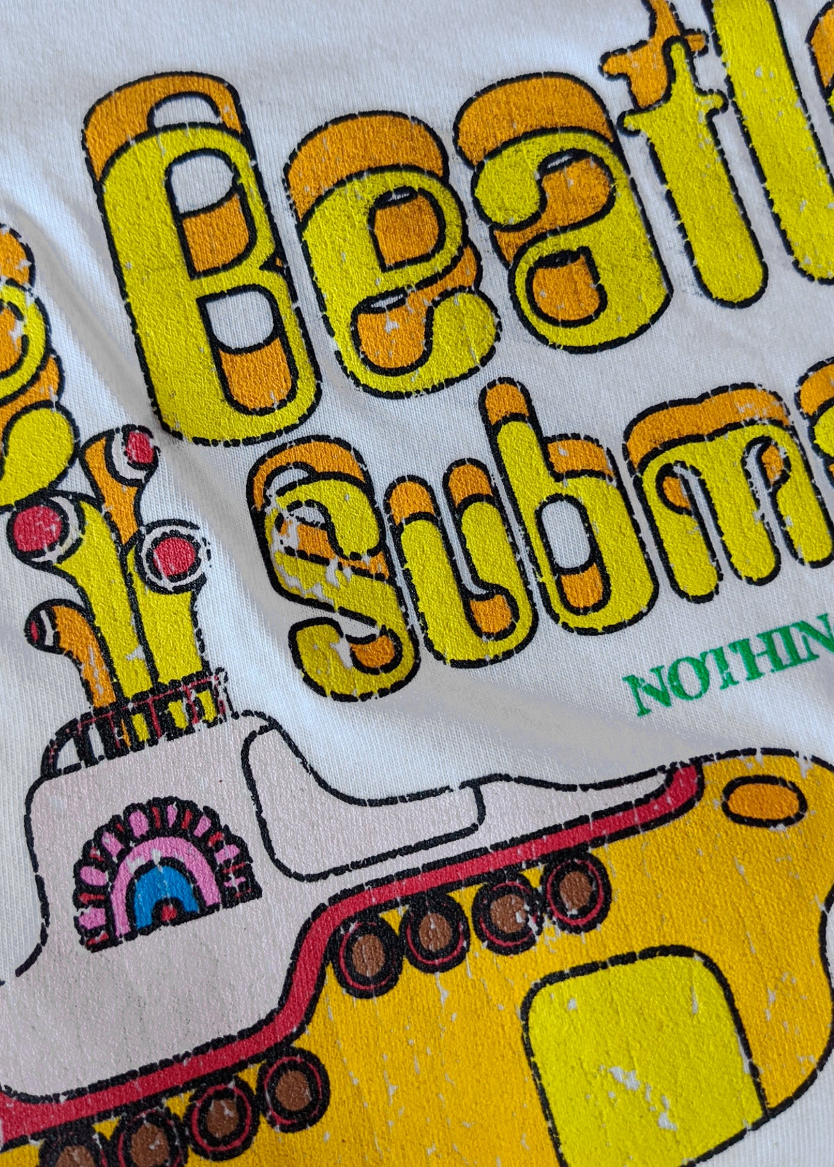 "The Beatles Yellow Submarine ""Nothing is Real"" Oversized Tee"